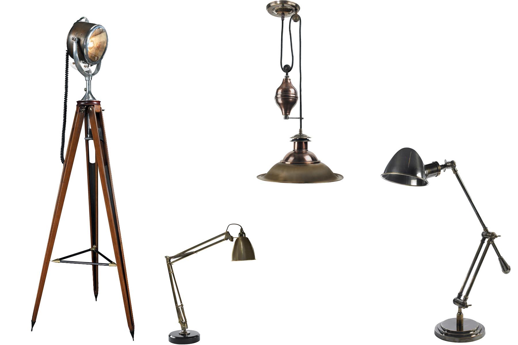 lampe de bureau cuir et laiton. Black Bedroom Furniture Sets. Home Design Ideas