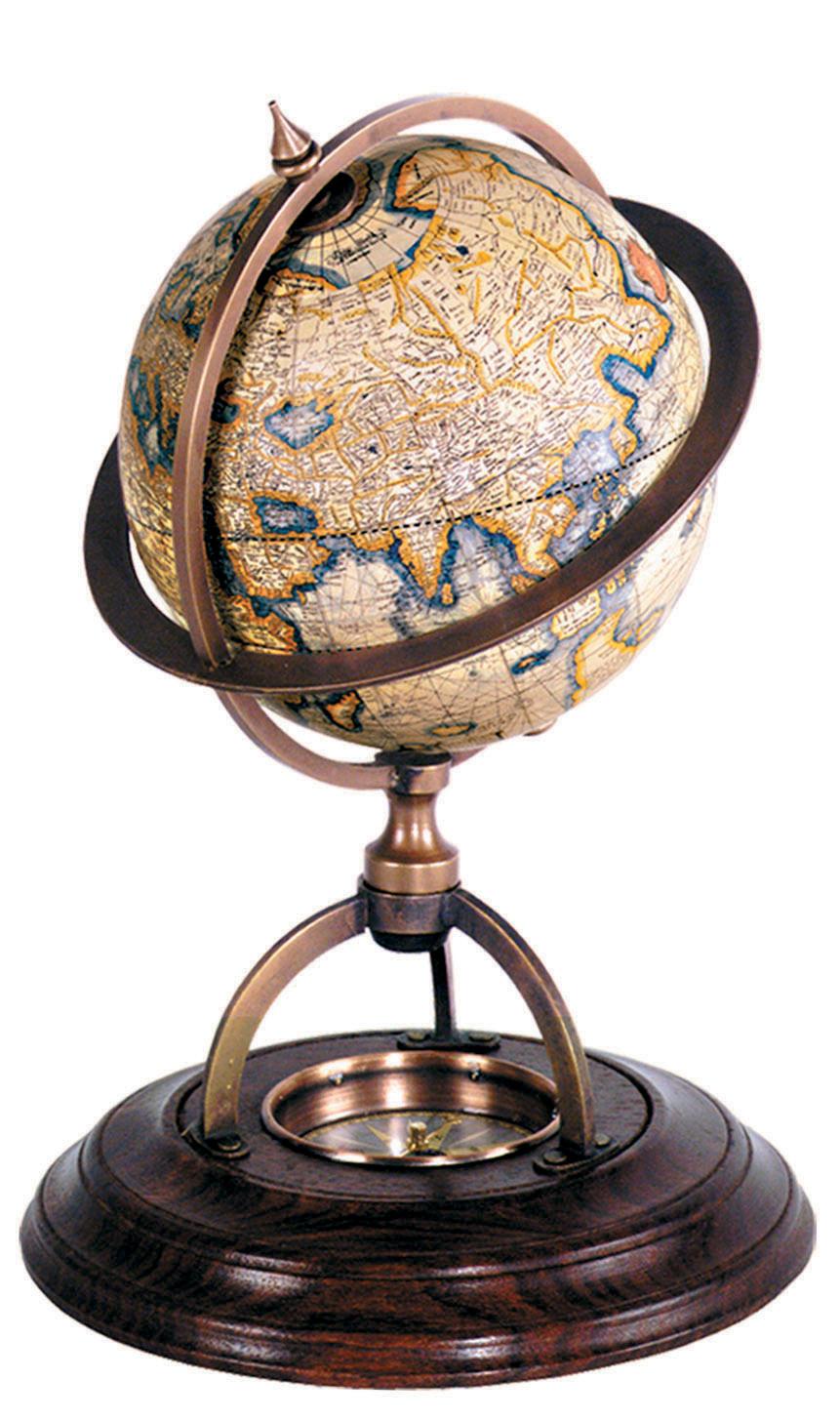 globe terrestre support boussole shop latitude deco. Black Bedroom Furniture Sets. Home Design Ideas
