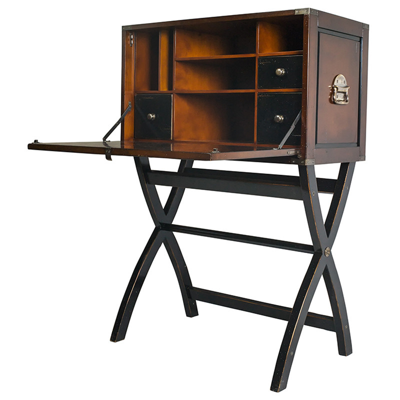 bureau coffre de voyage shop latitude deco. Black Bedroom Furniture Sets. Home Design Ideas