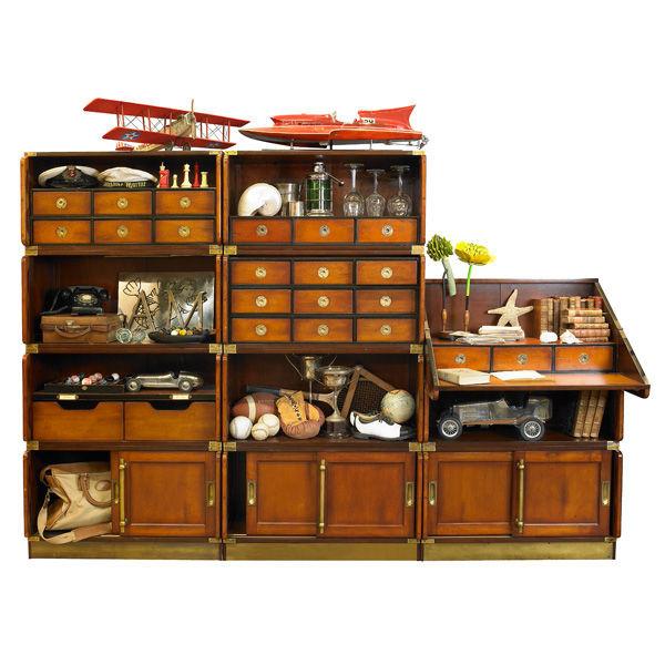 Biblioth que de campagne modulaire shop latitude deco for Meuble bibliotheque modulaire