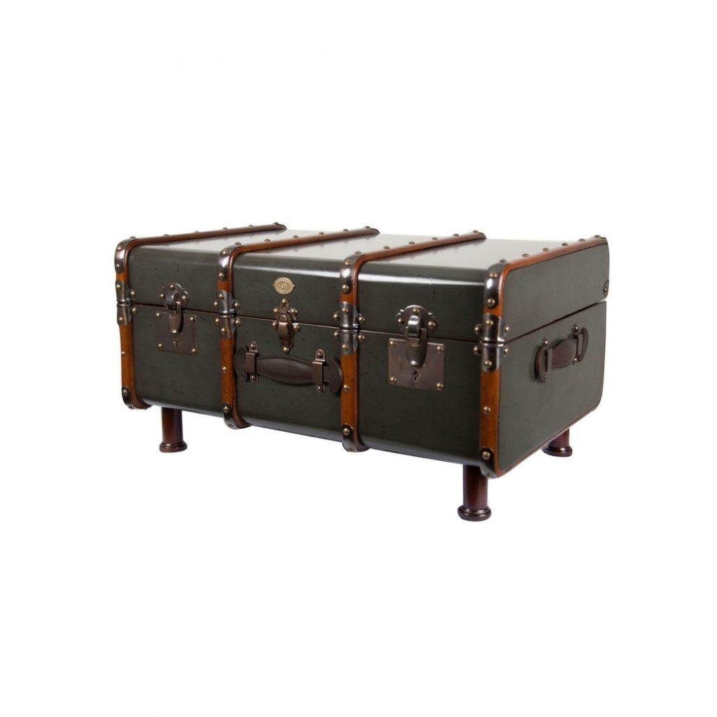 Malle de cabine particuli re grise shop latitude deco for Meuble authentica