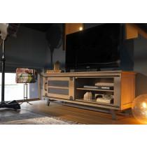 Meuble TV porte coulissante 140 cm