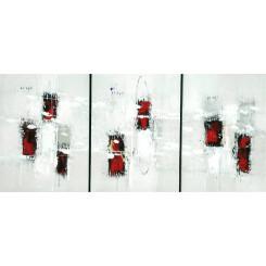 Tableau triptyque de ADA réf 106 (30 x 30 cm)