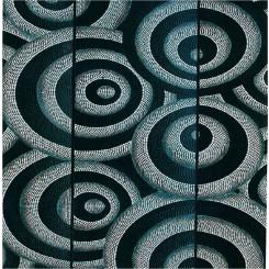 Tableau tryptique d'Art Aborigène réf 20 (30 x 100 cm)