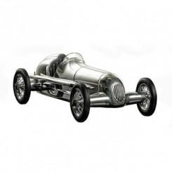 Reproduction voiture en aluminium Flèche d'argent