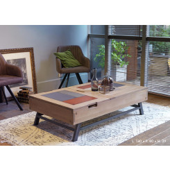 Table basse relevable 140 x 80 cm