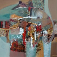 Tableau de DARSANA réf 210 (100 x 100 cm)