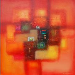 Tableau de LOKA DANA réf 257 (70 x 70 cm)